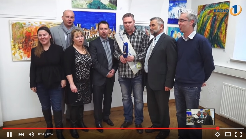 Na sliki od leve: Miha Deželak, Nataša Sorko, Igor Velov, Andreja Verovšek, Tjaša Kolenc Filipčič, Janez Sušnik in Imre Jerebic (l. 2016)